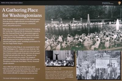 A Gathering Place for Washingtonians Marker image. Click for full size.