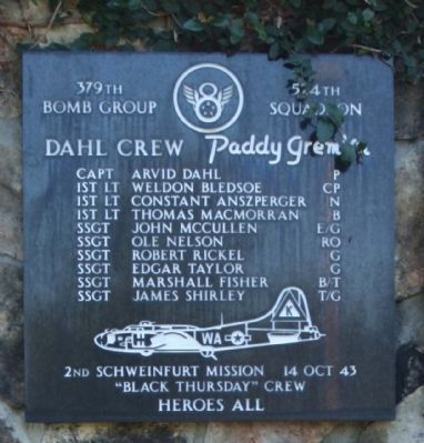 "379th Bombardment Group - 524th Squadron - ""Paddy Gremlin"" image. Click for more information."