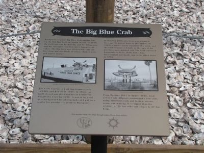 The Big Blue Crab Marker image. Click for full size.