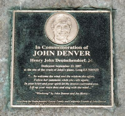 John Denver Marker Photo, Click for full size