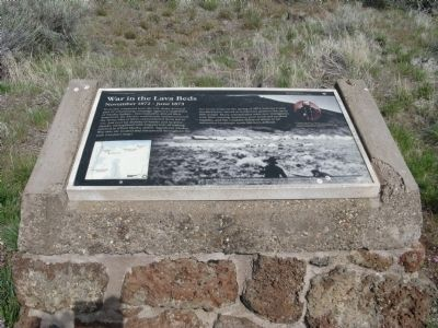 War in the Lava Beds Marker image. Click for full size.