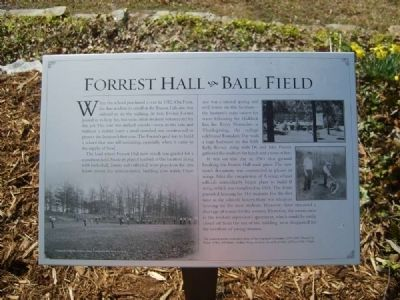 Forrest Hall - Ball Field Marker image. Click for full size.