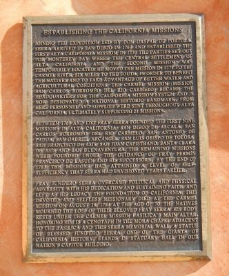 Establishing the California Missions Marker image. Click for full size.