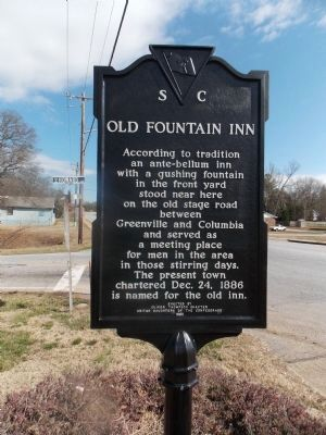 Old Fountain Inn Marker image. Click for full size.