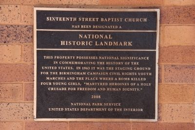 Sixteenth Street Baptist Church Marker image. Click for full size.