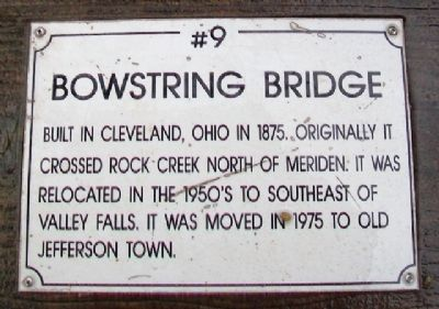 Bowstring Bridge Marker image. Click for full size.