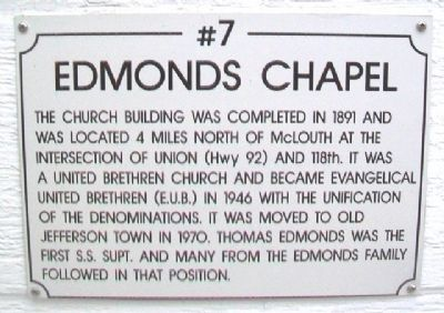 Edmonds Chapel Marker image. Click for full size.