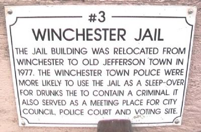 Winchester Jail Marker image. Click for full size.