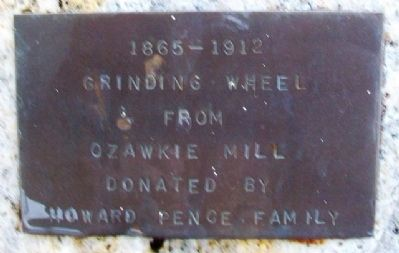 Ozawkie Mill Grinding Wheel Marker image. Click for full size.