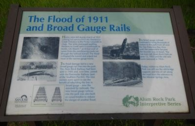The Flood of 1911 and Broad Gauge Rails Marker image. Click for full size.