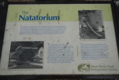 The Natatorium Marker image. Click for full size.