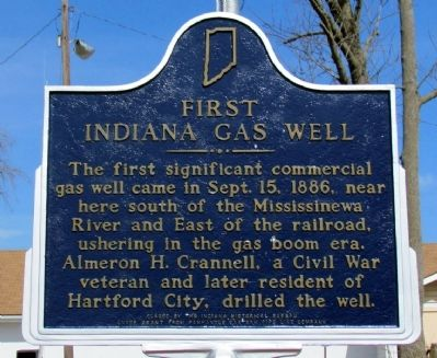 First Indiana Gas Well Marker image. Click for full size.