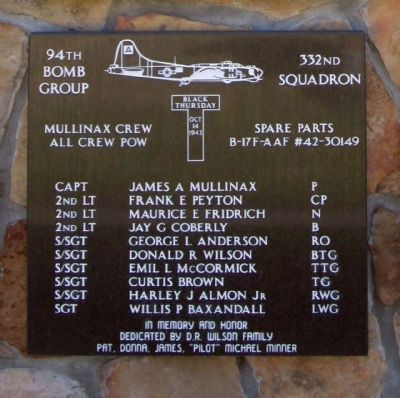 94th Bomb Group 332nd Squadron Mullinax Crew image. Click for full size.