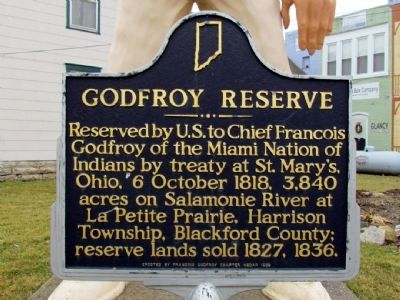 Godfroy Reserve Marker image. Click for full size.