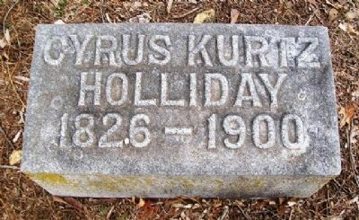 Cyrus K. Holliday Grave Marker image. Click for full size.