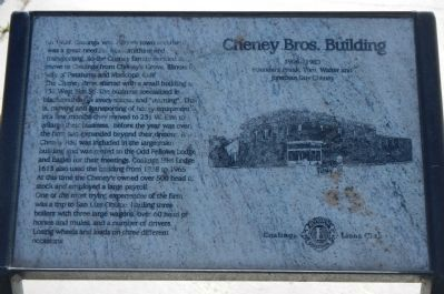 Cheney Bros. Building Marker image. Click for full size.