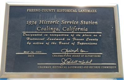 Richfield Service Station Plaque image. Click for full size.