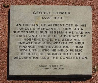 George Clymer Marker image. Click for full size.