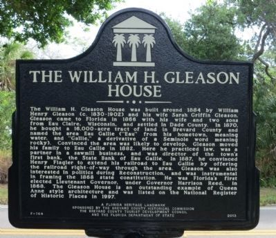 William H. Gleason Home Marker image. Click for full size.
