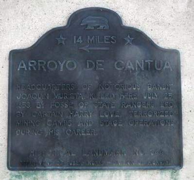 Arroyo de Cantua Marker image. Click for full size.