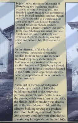 The Sheads-Buehler Building Marker image. Click for full size.