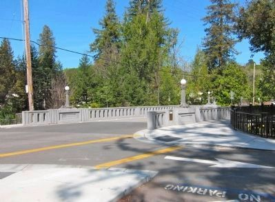 Lagunitas Road Bridge and Marker - Wide View image. Click for full size.