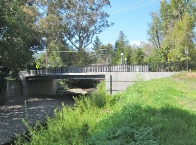 Lagunitas Road Bridge - Looking North from Southeast Bank image. Click for full size.