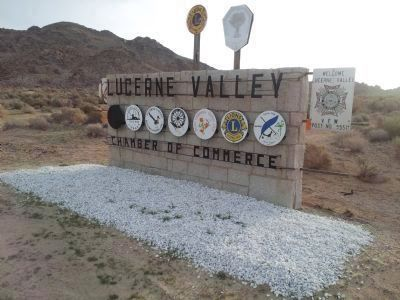 Updated View of the Lacerne Valley Sign Showing Emblems of Local Organizations. image. Click for full size.