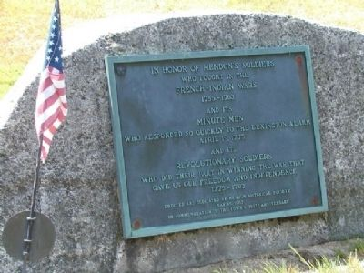 In Honor of Mendon's Soldiers Marker image. Click for full size.