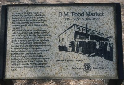 B.M. Food Market Marker image. Click for full size.