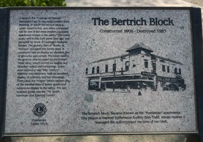The Bertrich Block Marker image. Click for full size.