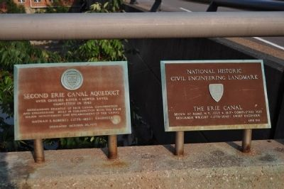 National Historic Civil Engineering Landmark and Aqueduct Markers image. Click for full size.