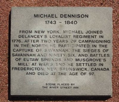 Michael Dennison Marker image. Click for full size.