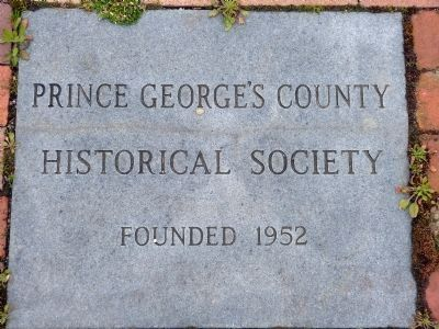 Prince George&#39;s County Historical Society<br>Founded 1952 image. Click for full size.