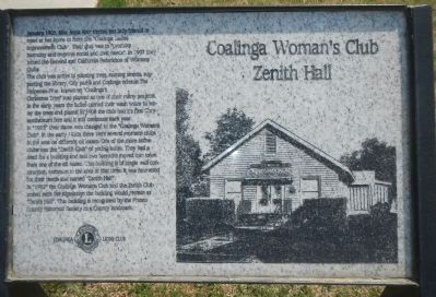 Coalinga Woman�s Club Marker Photo, Click for full size
