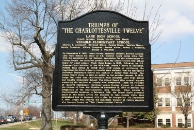 "Triumph of ""The Charlottesville Twelve"" Marker image. Click for full size."