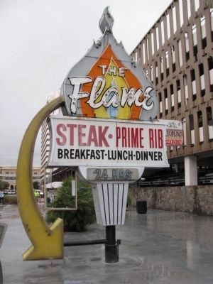 The Flame Restaurant Neon Sign image. Click for full size.