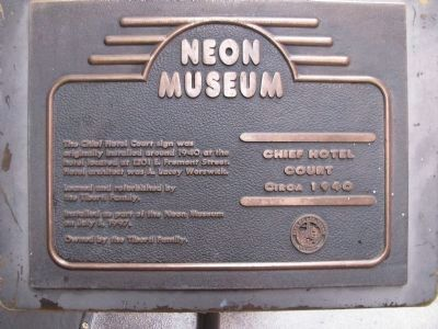 Chief Hotel Court Marker image. Click for full size.