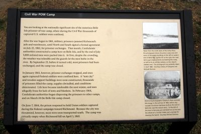 Civil War POW Camp Marker image. Click for full size.