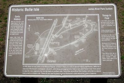 Historic Belle Isle Marker image. Click for full size.