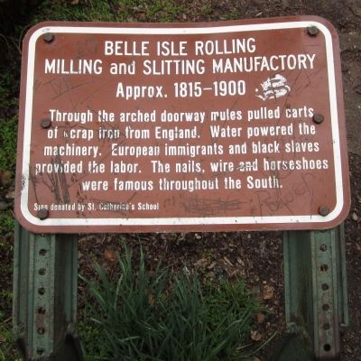 Belle Isle Rolling Milling and Slitting Manufactory Marker image. Click for full size.