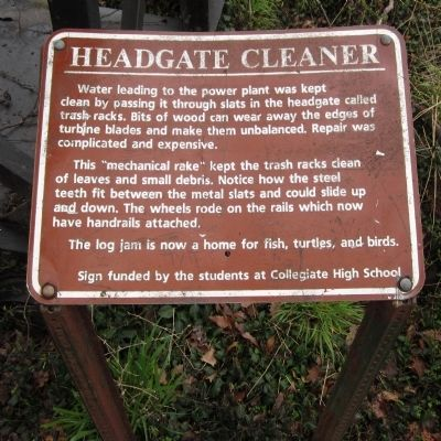 Headgate Cleaner Marker image. Click for full size.