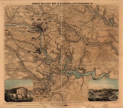 Hughes military map of Richmond & Petersburg, Va. image. Click for full size.