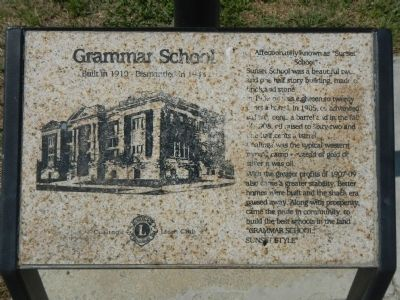 Grammar School Marker image. Click for full size.