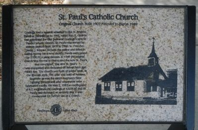 St. Paul's Catholic Church Marker image. Click for full size.