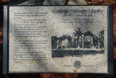 Coalinga Carnegie Library Marker image. Click for full size.