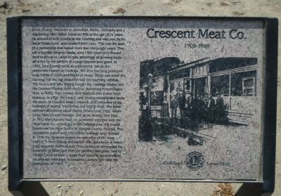 Crescent Meat Co. Marker image. Click for full size.