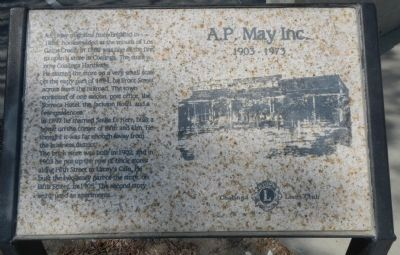 A.P. May Inc. Marker image. Click for full size.
