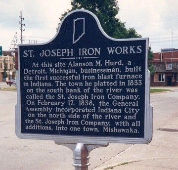 St. Joseph Iron Works Marker image. Click for full size.