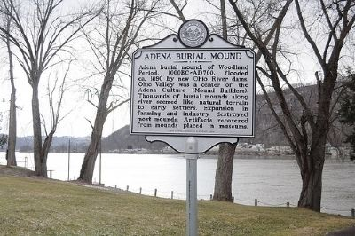 Adena Burial Mound Marker image. Click for full size.